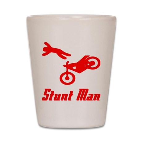 Stunt Man Shot Glass