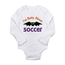 Batty About Soccer Long Sleeve Infant Bodysuit