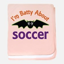 Batty About Soccer baby blanket