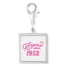 Gorgeous Since 1952 Silver Square Charm
