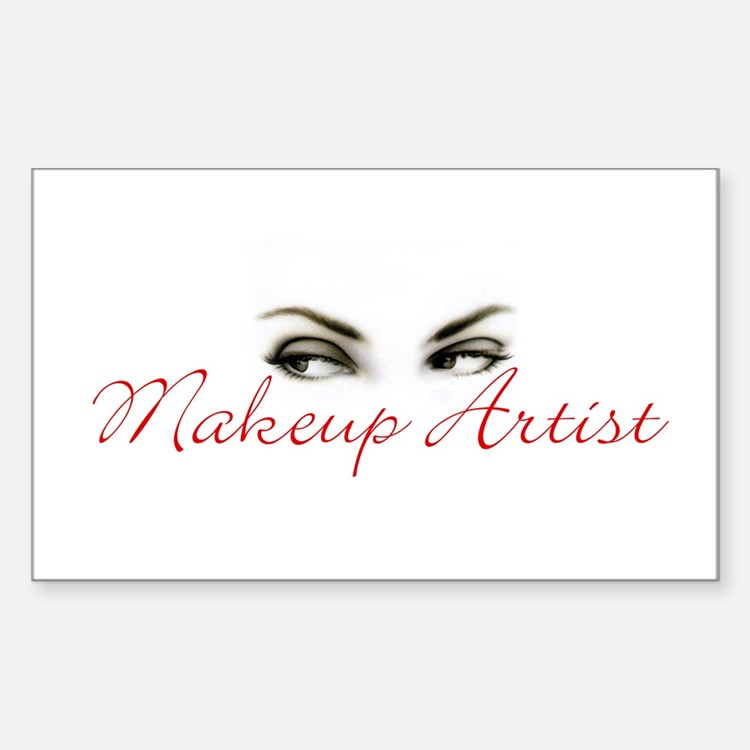 Makeup Artist Rectangle Decal