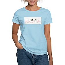 Makeup is Art Women's Pink T-Shirt