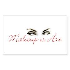 Makeup is Art Rectangle Decal
