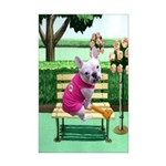 Frenchie Park Mini Poster Print