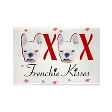Frenchie Kisses OXOX Rectangle Magnet