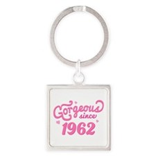 Gorgeous Since 1962 Square Keychain