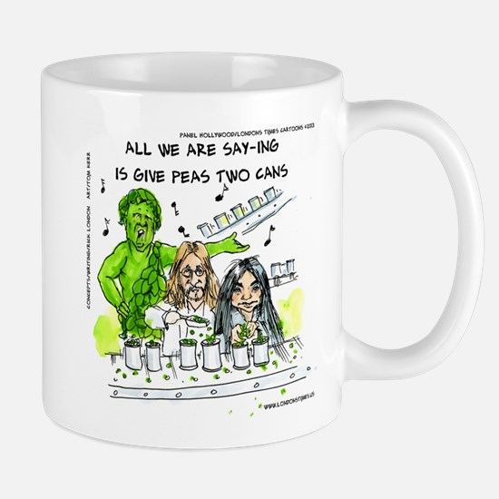 Give Peas 2 Cans Mugs