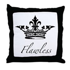 Flawless Crown Throw Pillow