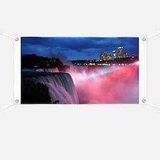 Niagara Falls at Night Banner