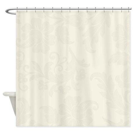 Cream Color Floral Pattern Shower Curtain By MarloDeeDesignsShowerCurtains