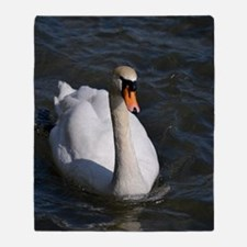Swan out for a Swim Throw Blanket