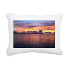Sunset on the Lake Rectangular Canvas Pillow