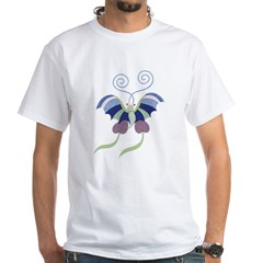 Japanese Butterfly White T-Shirt
