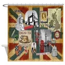 Anglophile's Shower Curtain