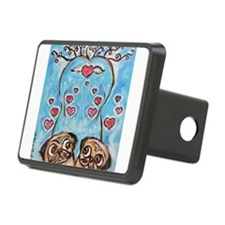 Pug angel love hearts Hitch Cover