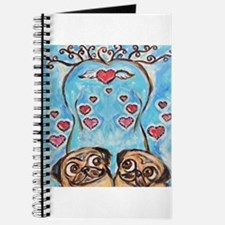 Pug angel love hearts Journal