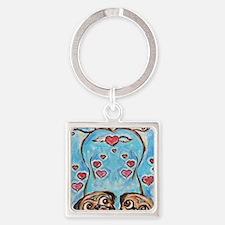 Pug angel love hearts Keychains
