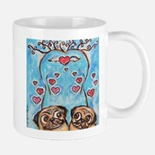 Pug angel love hearts Mugs