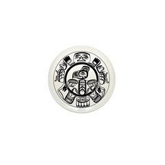 Northwest Indian Folkart Mini Button (10 pack)