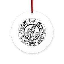 Northwest Indian Folkart Ornament (Round)