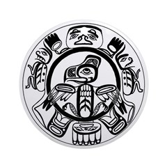 Northwest Indian Folkart Ornament (Round)