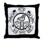 Northwest Indian Folkart Throw Pillow