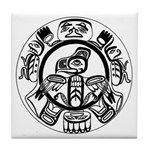 Northwest Indian Folkart Tile Coaster