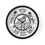 Northwest Indian Folkart Wall Clock