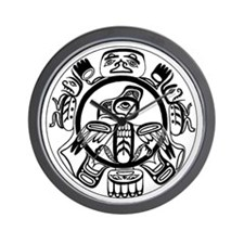 Northwest Indian Folkart Wall Clock