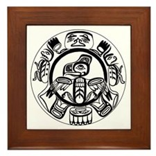 Northwest Indian Folkart Framed Tile