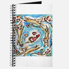 Chihuahuas dance love hearts Journal