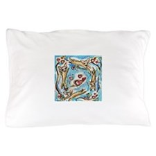 Chihuahuas dance love hearts Pillow Case