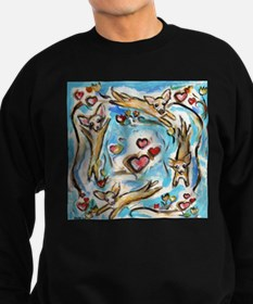 Chihuahuas dance love hearts Sweatshirt