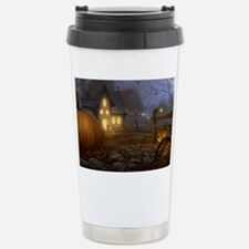 Haunted Halloween Village Travel Mug