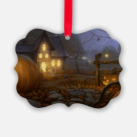 Haunted Halloween Village Ornament