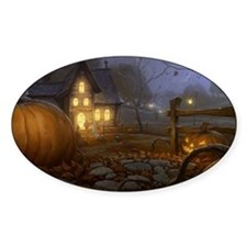 Haunted Halloween Village Decal