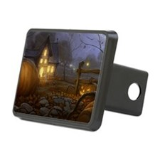 Haunted Halloween Village Hitch Cover