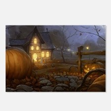 Haunted Halloween Village Postcards (Package of 8)