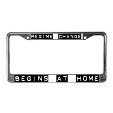 REGIME CHANGE License Plate Frame