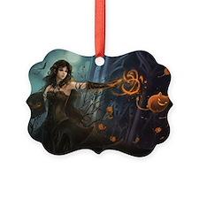 Haunting Halloween Beauty Ornament