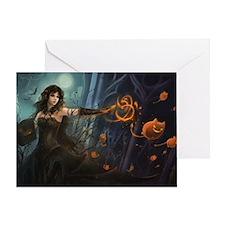 Haunting Halloween Beauty Greeting Card
