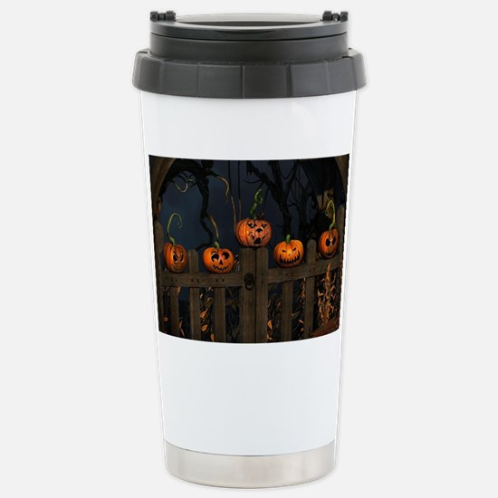 All the pretty pumpkins in a ro Stainless Steel Tr
