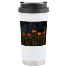All the pretty pumpkins in a ro Travel Mug