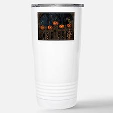 All the pretty pumpkins in a ro Travel Mug