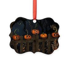 All the pretty pumpkins in a row Ornament