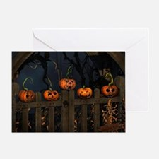 All the pretty pumpkins in a row Greeting Card