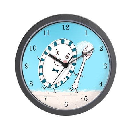 Dish and Spoon Couple Wall Clock