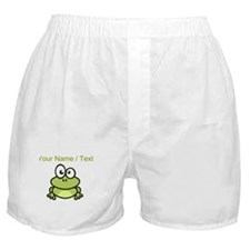 Custom Funny Cartoon Frog Boxer Shorts