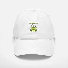 Custom Funny Cartoon Frog Baseball Baseball Cap