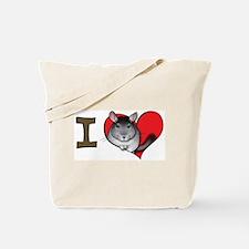 I heart chinchillas Tote Bag